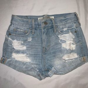 Abercrombie & Fitch high waisted distressed shorts